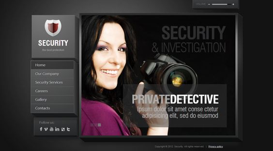 Security Service The Best Protection HTML5 Template by Dynamic Template