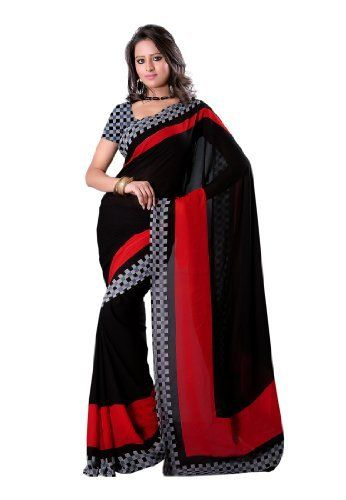 Fabdeal Indian Designer Faux Georgette Black Printed Saree Fabdeal, http://www.amazon.de/dp/B00INWKUKW/ref=cm_sw_r_pi_dp_Tl7otb02A2H5P