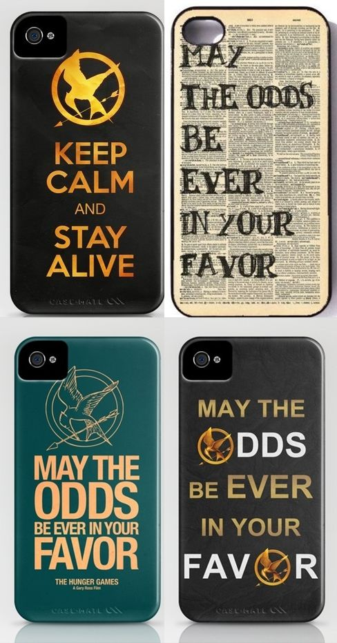 Hunger Games: Iphone cases would love to have the 4th one! :)