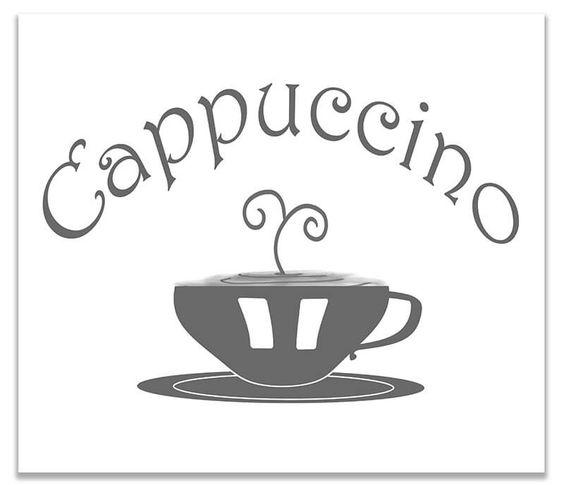 Cappuccino Cup Word Art Print Wall Art