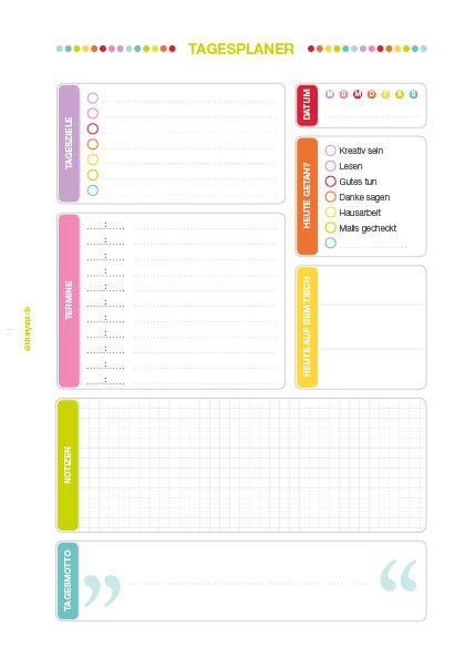 So, wie bereits auf meiner Facebookseite angekündigt ist hier nun das neue Filofax Freebie: Ein Tagesplaner mit allem Drum und Dran. Mit dabei: Tagesziele Termine Datum Heute getan? Heute auf dem T…
