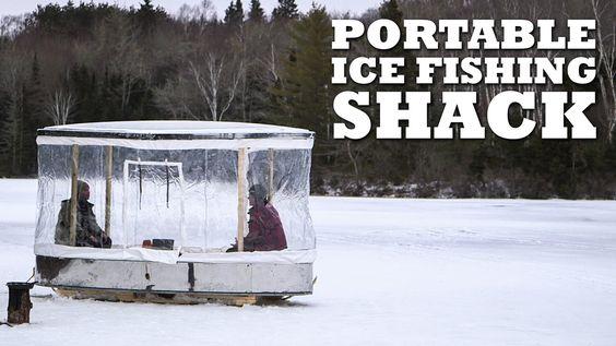 Semble fait à partir d'une grande enseigne Ford! -- DIY PORTABLE Ice Fishing Shack