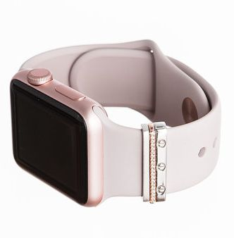 Rose gold mini glam stack apple watch accessory