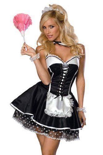 5 Stück Sexy Französisch Mädchen Qualität Kostüm Größe 38-40