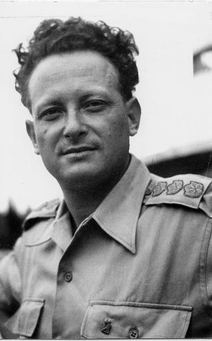 Yigal Allon when Lt-Gen in Tsahal