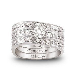 Today, Tomrrow, Always im sold.: Wedding Ring, Wedding Band, Engagement Ring, Anniversary Gift, Women, Today Tomorrow