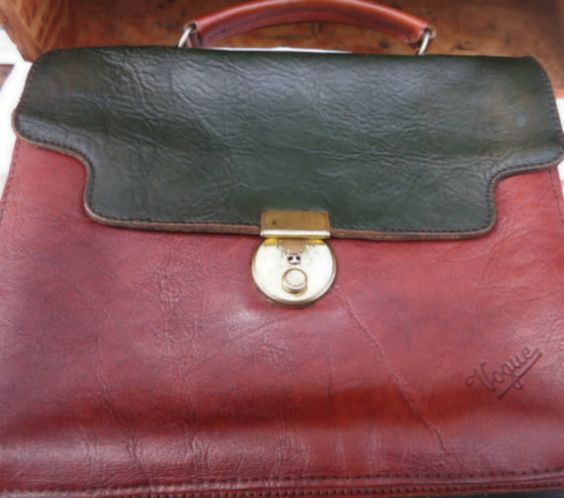 Leather Satchel Bag From Belgium  Black And Brown by mybonvivant