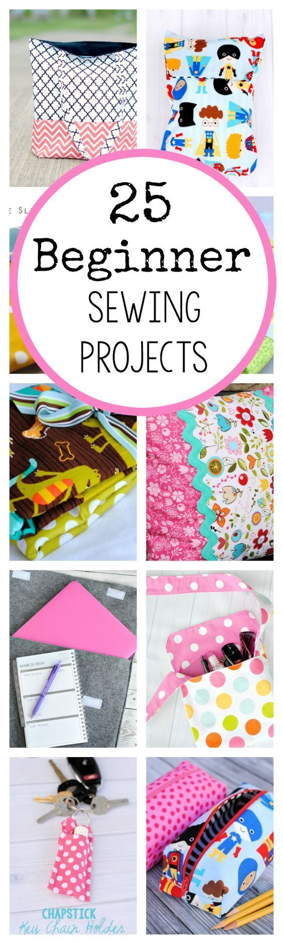 So we've roundup 25 Sewing Projects made easy for beginners like you. This list will help you get great ideas for your sewing projects. Take a tour now to help you get started.
