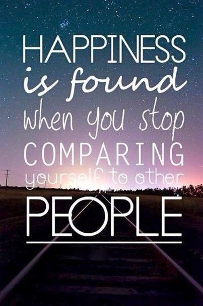 No need to compare, be yourself
