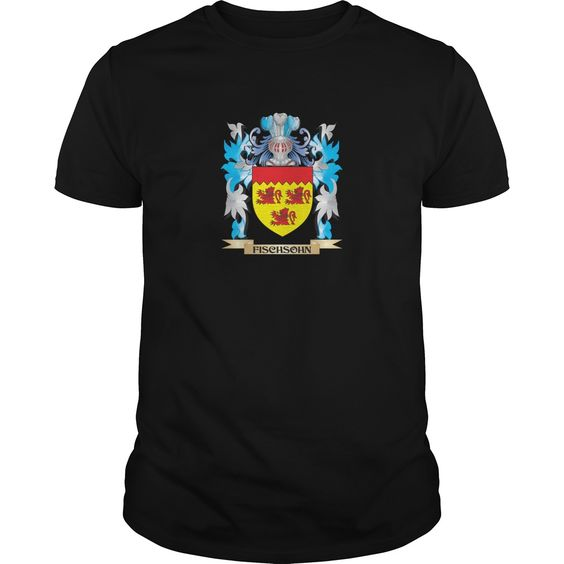 Fischsohn Coat of Arms - Family Crest - Perfect for Fischsohn family reunions or those proud of their family Fischsohn heritage.  Thank you for visiting my page. Please share with others who would enjoy this shirt. (Related terms: Fischsohn,Fischsohn coat of arms,Coat or Arms,Family Crest,Tartan,Fischsohn...)