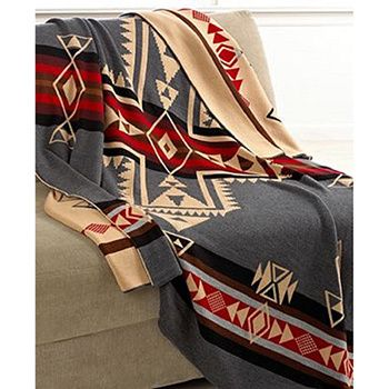 Made of wool for ultimate comfort and coziness, this Pendleton Crossroads Blanket is just the thing to keep you warm. Snuggle up with this blanket featuring a nautical print for style. This multicolor