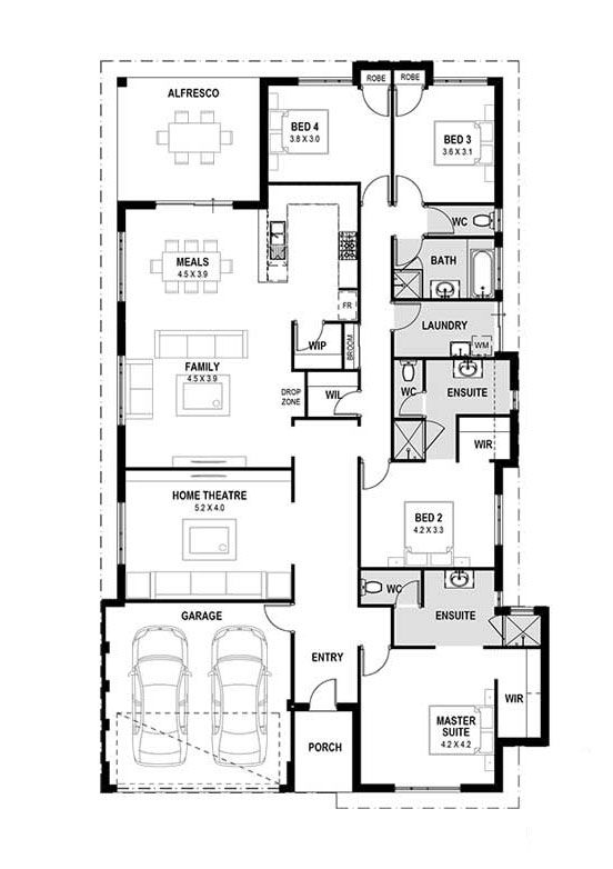 My Prevelly Home Designs Perth House Design Plan Modern House Design New Home Designs Perth Modern Floor Plans House Plans House Design