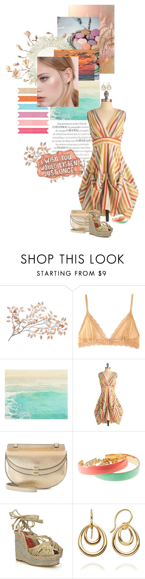 """just once..."" by summersdream ❤ liked on Polyvore featuring Eberjey, Sharpie, Eva Franco, Chloé, H&M, Paloma Barceló and Dinny Hall"