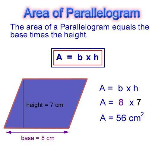 Parallelogram Area Math Concepts Pinterest