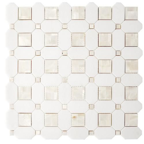 Thassos Mother Of Pearl Basket Weave Marble Mosaic Marble Mosaic Floor Decor Basket Weave Tile