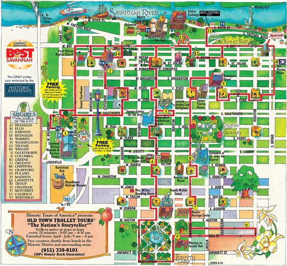 Walking Map Savannah Historic District | map for savannah georgia looking for you directions to a old savannah ...