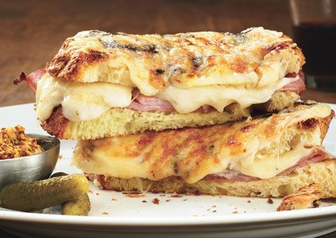 The Croque-Monsieur. Quite possibly the most exquisite thing to ever come out of sliced bread. #greypoupon