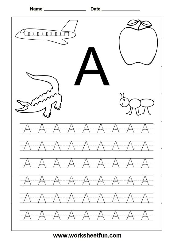 Number Names Worksheets az worksheets for kindergarten Free – A-z Worksheets for Kindergarten