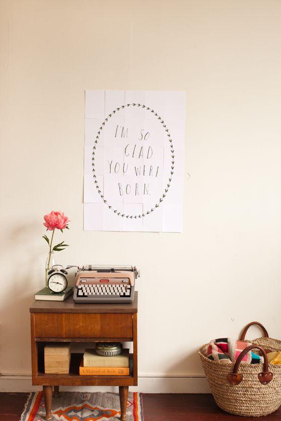 'I'm so glad you were born' -  Birthday Poster DIY by Shanna Murray for ohhappyday #Birthday_Card #ohhappyday #Shanna_Murray