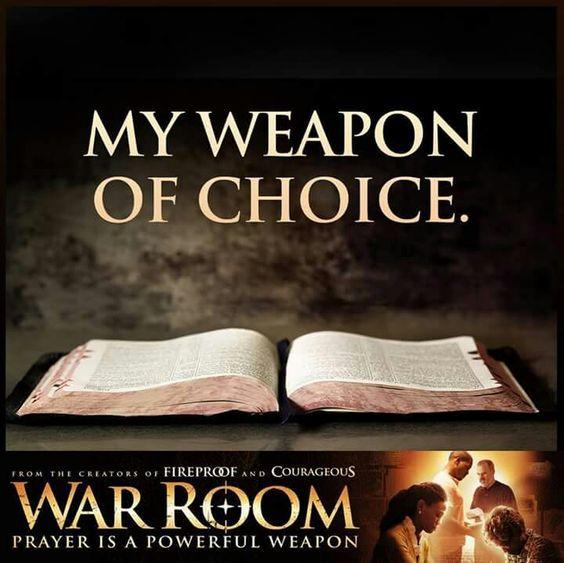My weapon of choice #WarRoom #spiritual warfare