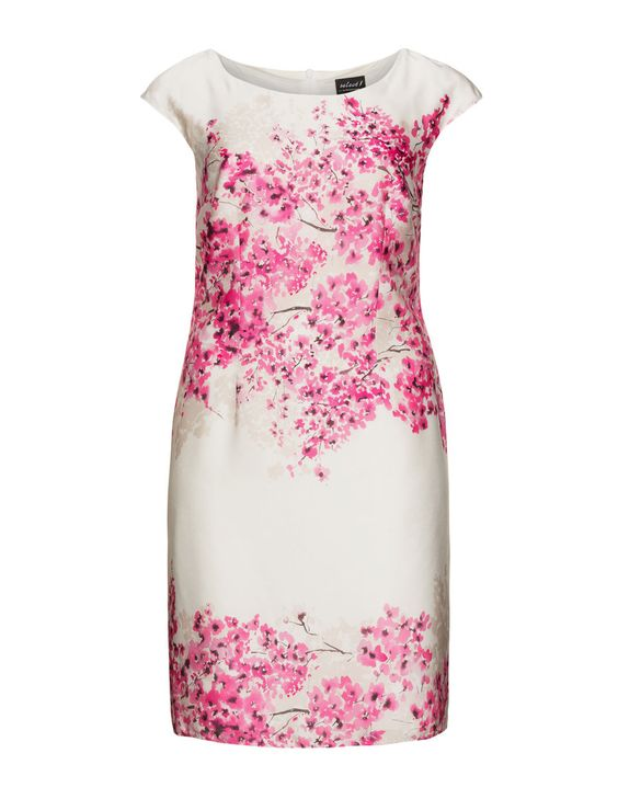 HERMANN LANGE - Floral-Print-Kleid, passend zu Kurzjacke - navabi