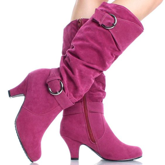 Sexy in High Heel Boots for Women | Hot-Pink-Suede Comfortable ...