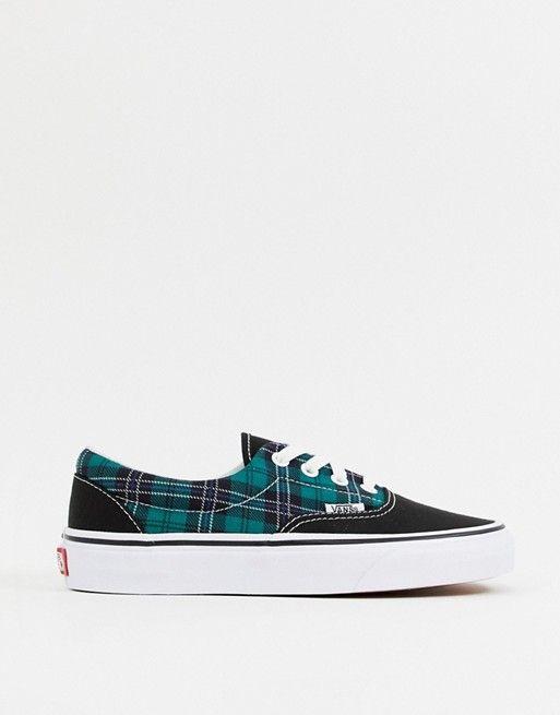 Vans era green plaid check sneakers