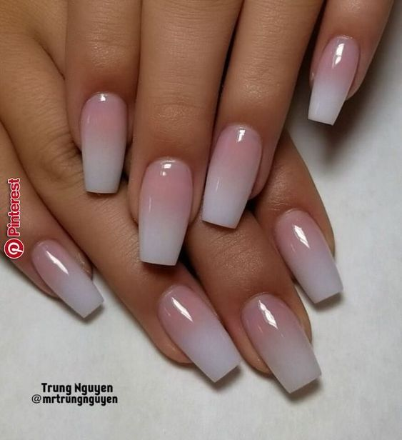 The Ombre Coffin Nails Design Are So Perfect For 2019 Hope They Can Inspire You And Read The Article To Get Ombre Acrylic Nails Nails Now Pretty Acrylic Nails