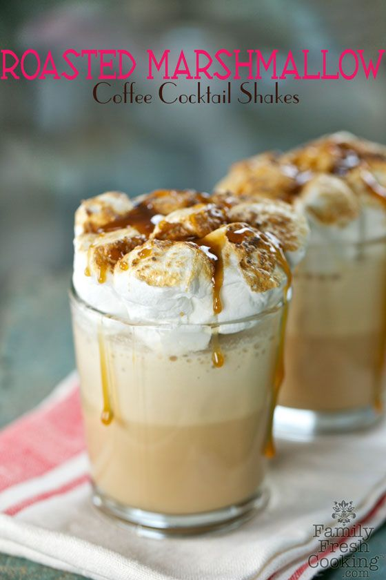 Roasted Marshmallow Coffee Shake Cocktail