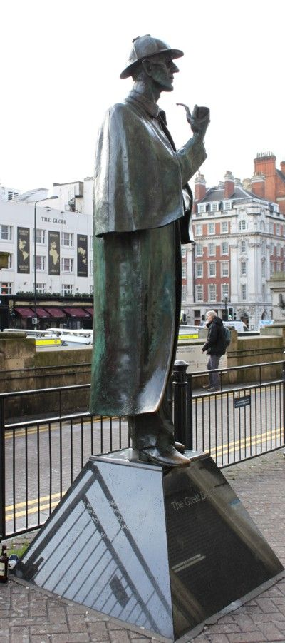 Sherlock Holmes, the Great Detective, City of Westminster, London, England.  This statue is right on Baker Street as you emerge from the Tube station.