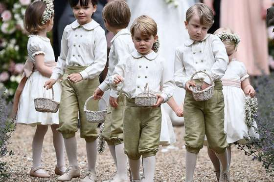 Customary With Royal Traditional The Little Prince Wears Tailored Shorts And Not Pants Getty Pippa Middleton Wedding Pippa Middleton Prince George