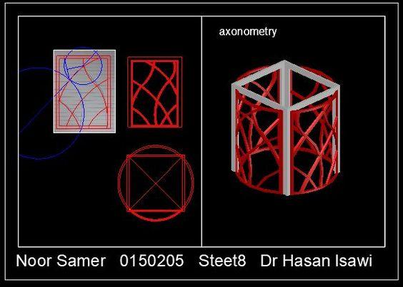 لوحة8: نمذجة شبكة منحنيات على سطح اسطواني