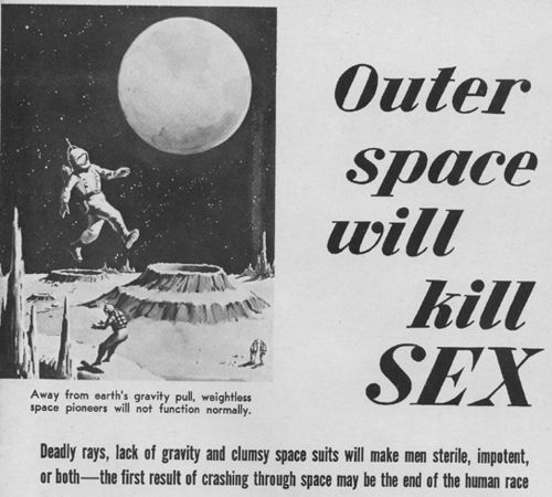 Outer Space Will Kill Sex From Man's Life, March 1959