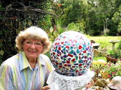 My Large Sphere Garden Ball From Stained Glass And Fan Mail From