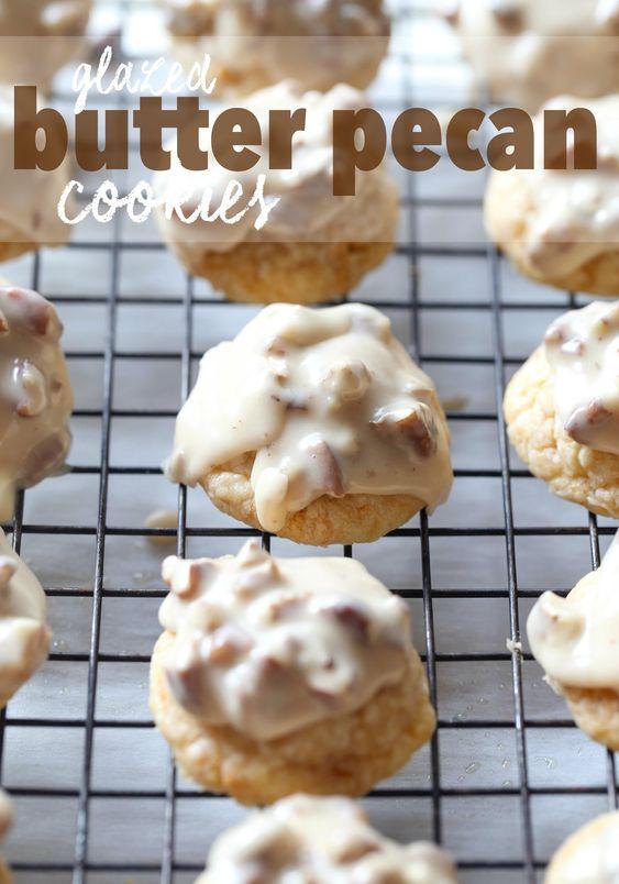 Butter pecan cookies, Pecan cookies and Butter pecan on Pinterest