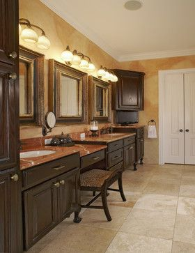 bathroom vanity with makeup counter | Dallas Home makeup vanity ...