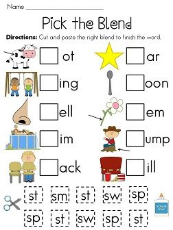 Worksheets Blends Printable Worksheets pinterest the worlds catalog of ideas s blends worksheets eight fun worksheetsactivities to help your kids practice those tricky 4 cut and paste picture sorts s