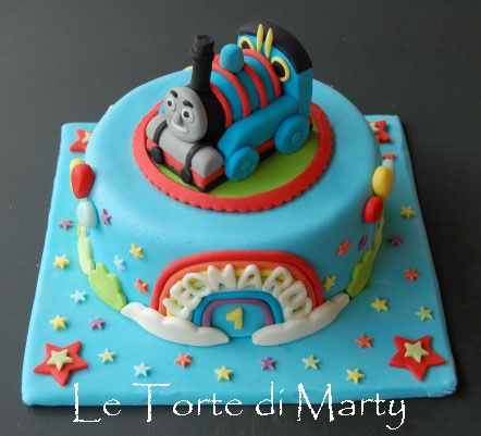 Thomas Train Cake (by Le Torte di Mary)