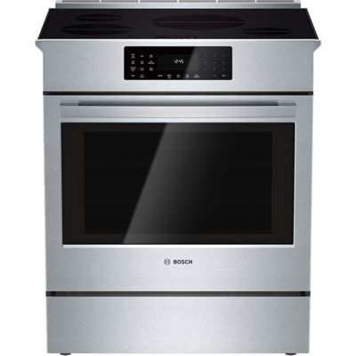 Bosch Range Hii8055c 30 In 4 6 Cubic Ft 4 Element Slide In Smooth Surface Stainless Steel Convection Induction Induction Range Slide In Range Convection Range