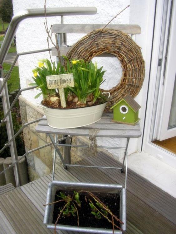 ostern oster fr hlingsdeko fr hling pinterest dekoration und selber machen. Black Bedroom Furniture Sets. Home Design Ideas