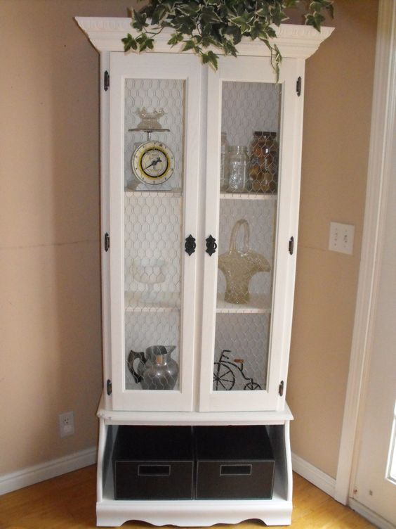 Old Gun Cabinet Turned Curio Furniture Re Done By Mrc