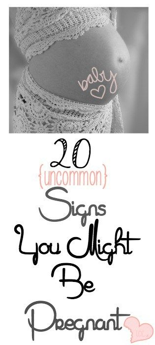 uncommon signs of pregnancy
