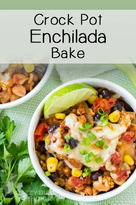 Crock Pot Enchilada Bake Recipe Vegetarian Recipes Easy Crockpot Recipes Crockpot Recipes Easy