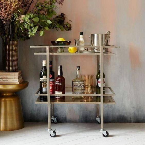 21 of the best bar trolleys: West Elm 'Bell Hop Bar Cart', $699.