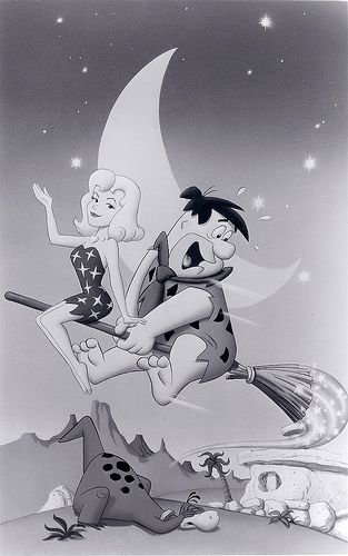 Fred Flintstone and Elizabeth Montgomery as Samantha from Bewitched Photo, 1991
