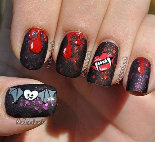 The Ten Scariest Nail Art Designs For Halloween: Halloween Nail Art, Nail Art Designs And Halloween Nails