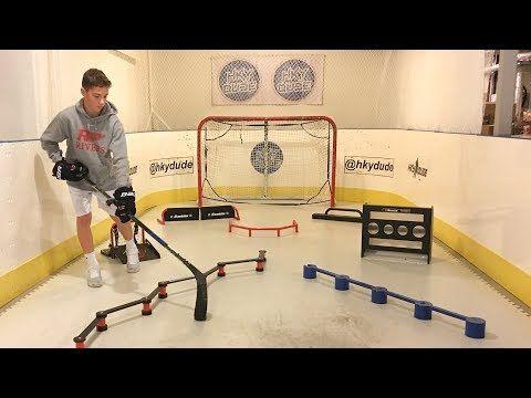 My Hockey Training Setup Youtube Hockey Room Hockey Training Hockey