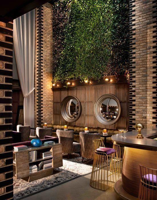 Cafe Dekorasyon Luxury Design Modern Seat Design Wood Decor