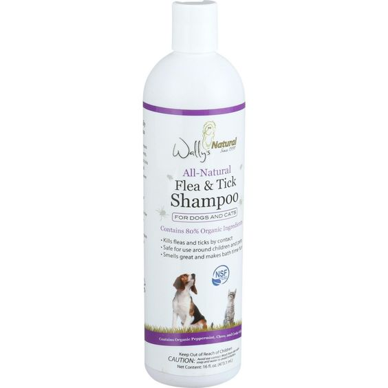 Wally's Natural Products All Natural Flea and Tick Shampoo - 16 oz - 1 Count