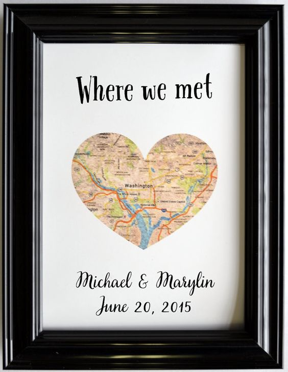 Personalized Map Location Place Of Where We Met by Printsinspired ...